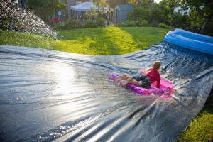 back garden activities -SLIP-N-SLIDE
