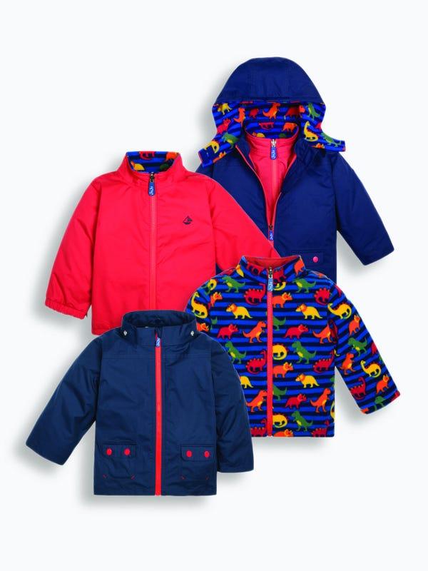 kids 4 in 1 waterproof jacket